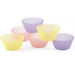Regency Sili-Cups Pastel Muffin Cup, Set of 6