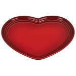 Le Creuset Stoneware Cerise 9 Inch Heart Plate