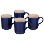 Le Creuset Indigo Stoneware Mug, Set of 4