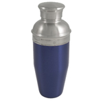 Blue Enameled Stainless Steel Cocktail Shaker 26oz NEW