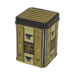 Loose Tea Square Storage Tin Canister