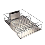 Stainless Steel Compact 3 Piece Counter Dish Drainer Rack