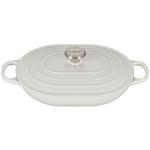 Le Creuset Signature White Enameled Cast Iron 3.75 Quart Oval Casserole Dish