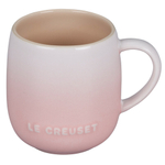 Le Creuset Cafe Collections Enameled Stoneware Shell Pink 13 Ounce Mug