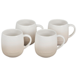 Le Creuset Cafe Collections Enameled Stoneware Meringue 13 Ounce Mug, Set of 4
