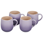 Le Creuset Cafe Collections Enameled Stoneware Provence 13 Ounce Mug, Set of 4