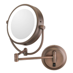 Kimball & Young Neomodern Italian Bronze Round LED Lighted Wall Mirror