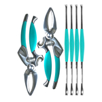 Toadfish Outfitters Blue Crab & Lobster Tool Set with Crab Cutters & Seafood Forks
