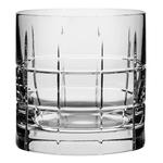 Orrefors Street Crystal 8.4 Ounce Whiskey Glass, Set of 2