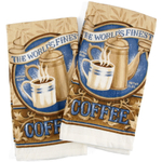 World'S Finest Coffee Cream Kitchen Towel, Set of 2