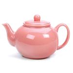 RSVP Pink Stoneware 16 Ounce Teapot