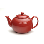 RSVP Red Stoneware 16 Ounce Teapot