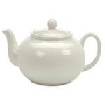 RSVP White Stoneware 16 Ounce Teapot