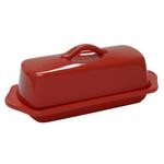 Chantal Ceramic Cinnabar Red Full-Size Butter Dish