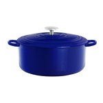 Chantal Cobalt Blue Round Cast Iron Casserole Dish
