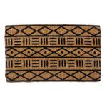 Entryways Handmade Coconut Fiber Mud Cloth Doormat