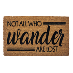 Entryways Sweet Home Coir Not All Who Wander Doormat with Backing
