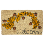 Entryways Handmade Coir Oak Welcome Doormat