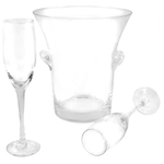 Circleware Glass Celebration Champagne Set, 5 Piece