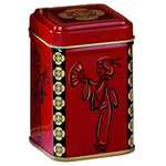 Red & Black Geisha Tea Storage Tin Canister