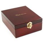 """Tea Secrets"" Wood Tea Storage Chest & 5 Accessories"
