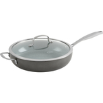 Trudeau Pure Ceramic 12 Inch Covered Deep Fry Pan