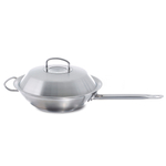 Fissler Original Profi 18/10 Stainless Steel 12 Inch Wok with Domed Lid