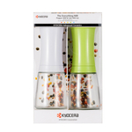 Kyocera White & Green Everything Ceramic Mill 2 Piece Set
