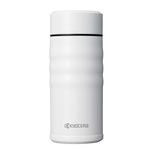 Kyocera Pearl White Stainless Steel 12 Ounce Twist Top Insulated Travel Mug