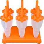 Tovolo Orange Rocket Ice Pop Molds, Set of 6