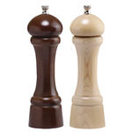 Chef Specialties Professional Series Walnut Natural Windsor Salt and Pepper Mill Set