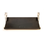 The Drop Block Black Plywood 23 x 10.5 Inch Cookbook Holder