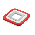 Guzzini Red Silicone Set of 3 In 1 Trivets