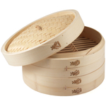 Asian Origins 3 Piece Bamboo Steamer Set