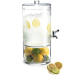 Artland Simplicity 2 Part Glass Beverage Dispenser with Separate Bottom and Lid, 2 Gallon