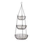 RSVP Bronze Chicken Wire 3 Tier Hanging Baskets