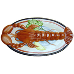 Lobster Oval Glazed Ceramic Server Platter