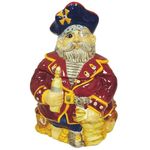 Hand Painted Ceramic Nautical Sea Pirate Gasparilla Cookie Jar