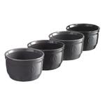 Emile Henry Ceramic Grey Ombre Ramekins, Set of 4