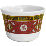 Red & White Longevity Asian Ware Tea Cup Melamine