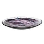 Kosta Boda Contrast Black Glass 15 x 2.4 Inch Platter