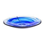 Kosta Boda Contrast Blue Glass 15 x 2.4 Inch Platter
