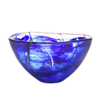 Kosta Boda Contrast Blue Glass 9 Inch Medium Bowl