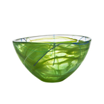 Kosta Boda Contrast Lime Glass 9 Inch Medium Bowl