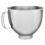 KitchenAid Hammered Stainless Steel 5 Quart Mixer Bowl