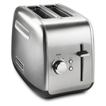 KitchenAid Brushed Stainless Steel 2 Slice Toaster with Manual Lift Lever