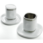 Miam.Miam Espresso Tower Cup & Saucer Set, 8 Piece