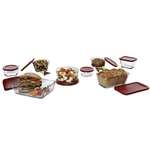 Anchor Hocking Glass Food Storage Containers, Set of 8