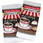 Coffee Shop Fresh Roasted White Kitchen Towel, Set Of 2