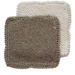 Toockies Organic Cotton and Jute Knit Scrub Cloth, Set of 2